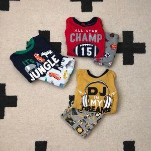 Carter's boys 5T pajama bundle (includes 3 sets)